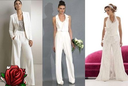 f0403efd2c52 Najväčší módny trend v svadobnej móde v posledných niekoľkých rokoch – svadba  nevesta šaty so sukňou alebo nohavicami